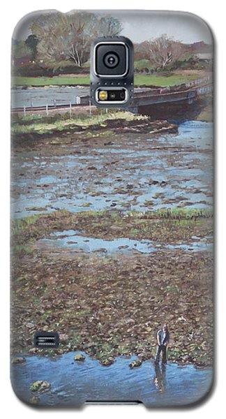 Galaxy S5 Case featuring the painting River Test At Totton Southampton by Martin Davey