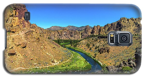 Galaxy S5 Case featuring the photograph River Through Mountains by Jonny D