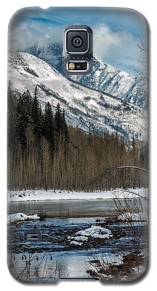 River To Peaks Glacier National Park Galaxy S5 Case