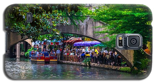 River Walk Dining Galaxy S5 Case by Ed Gleichman