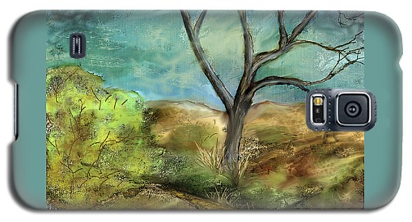 Galaxy S5 Case featuring the painting Riverbed  by Annette Berglund