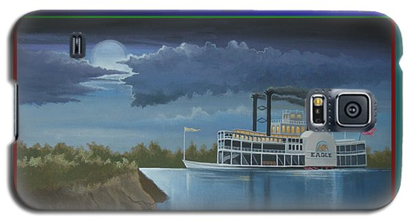 Galaxy S5 Case featuring the painting Riverboat Season's Greetings by Stuart Swartz