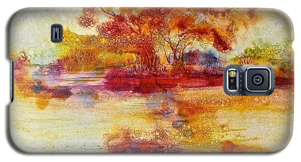 Riverscape In Red Galaxy S5 Case
