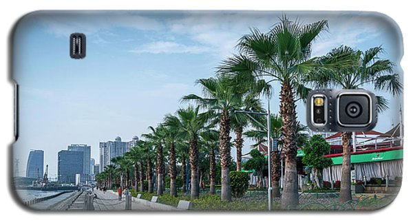 Riverside Promenade Park And Skyscrapers In Downtown Xiamen City Galaxy S5 Case