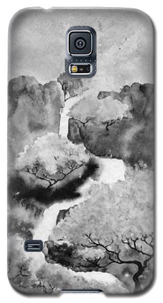 Galaxy S5 Case featuring the painting Riviere Celeste by Marc Philippe Joly