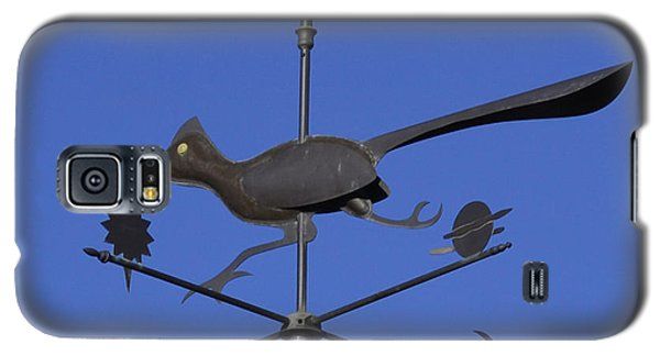 Galaxy S5 Case featuring the photograph Road Runner Weather Vane by Joan Hartenstein