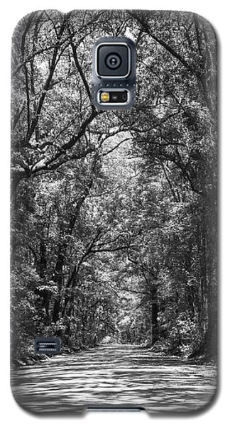 Road To Angel Oak Grayscale Galaxy S5 Case by Jennifer White
