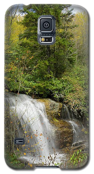 Galaxy S5 Case featuring the photograph Roadside Waterfall In North Carolina by Mike McGlothlen