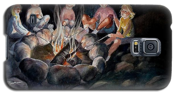 Galaxy S5 Case featuring the painting Roasting Marshmallows by Marilyn Jacobson