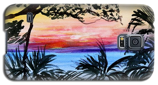 Roatan Sunset Galaxy S5 Case by Donna Walsh