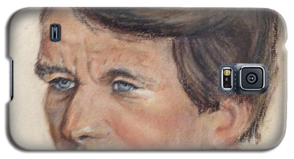 Galaxy S5 Case featuring the painting Robert Kennedy by Anthony Ross