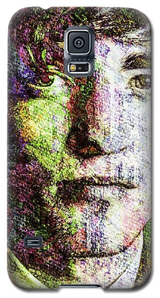 Galaxy S5 Case featuring the mixed media Robert Pattinson by Svelby Art