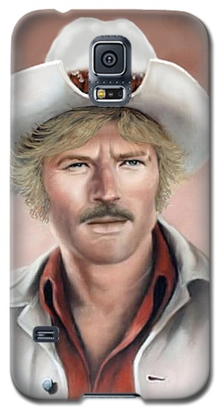 Galaxy S5 Case featuring the painting Robert Redford by Loxi Sibley