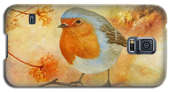 Robin Among Flowers Galaxy S5 Case