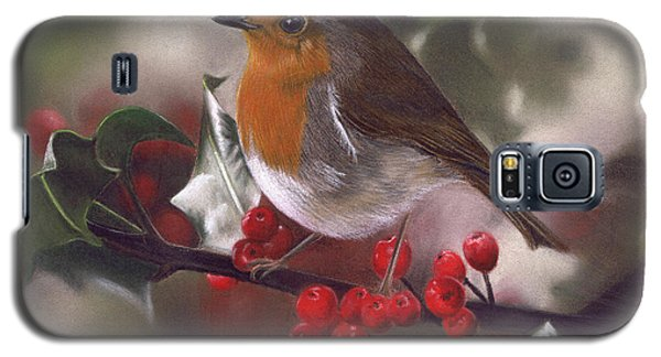 Robin And Berries Galaxy S5 Case