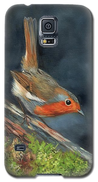 Galaxy S5 Case featuring the painting Robin by David Stribbling