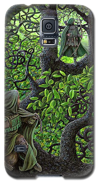 Galaxy S5 Case featuring the painting Robin Hood by Dave Luebbert