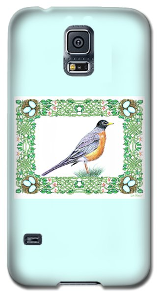 Robin In Spring Galaxy S5 Case