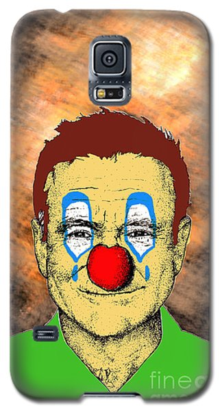 Galaxy S5 Case featuring the drawing Robin Williams 1 by Jason Tricktop Matthews