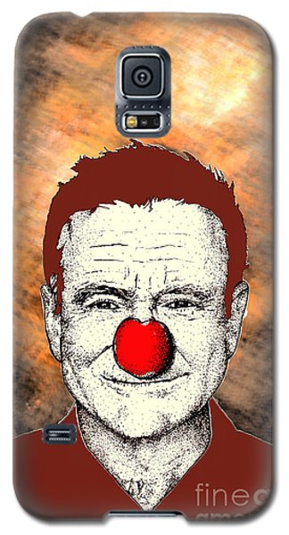 Galaxy S5 Case featuring the drawing Robin Williams 2 by Jason Tricktop Matthews