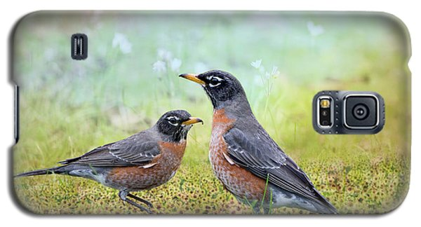 Galaxy S5 Case featuring the photograph Robins, Heralds Of Spring by Bonnie Barry