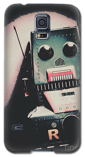 Robotic Mech Under Vintage Spotlight Galaxy S5 Case