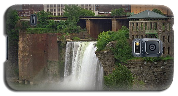 Galaxy S5 Case featuring the photograph Rochester, New York - High Falls 2 by Frank Romeo