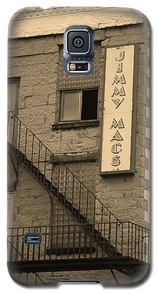 Galaxy S5 Case featuring the photograph Rochester, New York - Jimmy Mac's Bar 2 Sepia by Frank Romeo