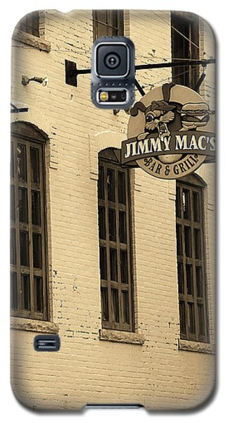 Galaxy S5 Case featuring the photograph Rochester, New York - Jimmy Mac's Bar 3 Sepia by Frank Romeo