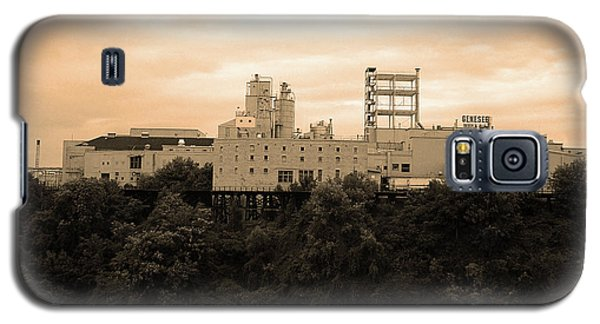 Galaxy S5 Case featuring the photograph Rochester, Ny - Factory On A Hill Sepia by Frank Romeo