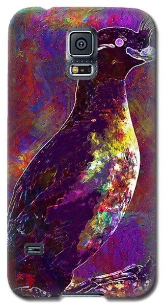 Auklets Galaxy S5 Case - Rock Bird Auklet Crested Birds  by PixBreak Art