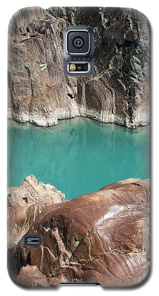 Galaxy S5 Case featuring the photograph Rock Formation Of Zanskar, Ladakh, 2009 by Hitendra SINKAR