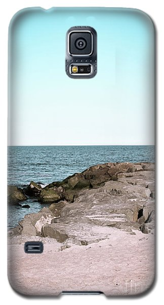 Galaxy S5 Case featuring the photograph Rock Jetty by Colleen Kammerer