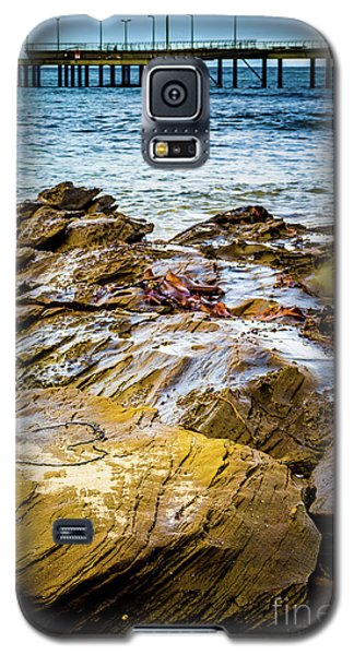 Galaxy S5 Case featuring the photograph Rock Pier by Perry Webster