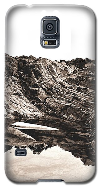 Galaxy S5 Case featuring the photograph Rock - Sepia Detail by Rebecca Harman