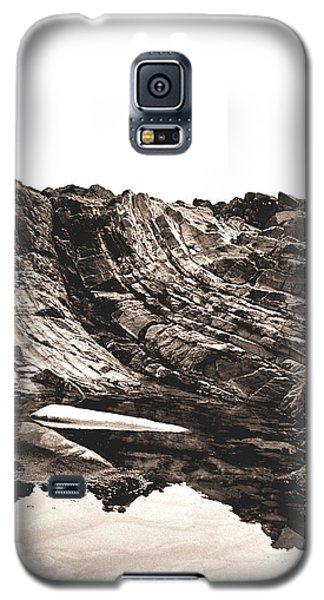 Rock - Sepia Detail Galaxy S5 Case by Rebecca Harman