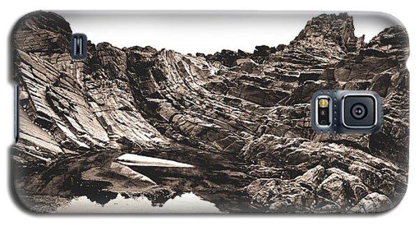 Rock - Sepia Galaxy S5 Case by Rebecca Harman