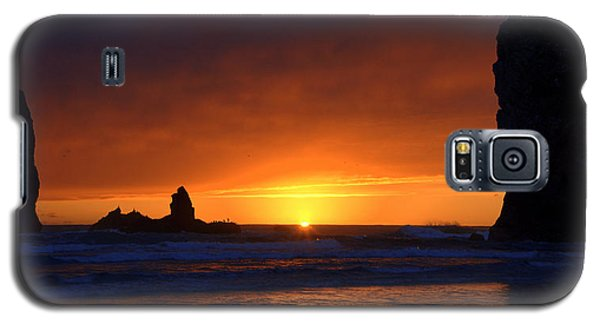 Rock Sunset Galaxy S5 Case by Jerry Cahill