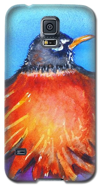 Galaxy S5 Case featuring the painting Rockin Robin by Patricia Piffath