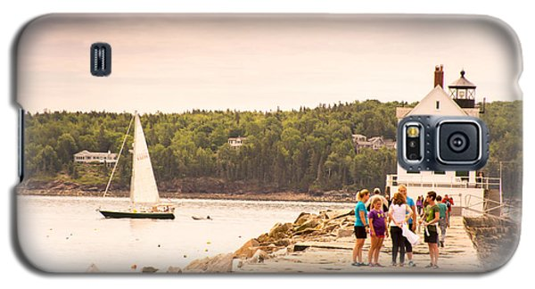 Galaxy S5 Case featuring the photograph Rockland Breakwater by Paul Miller