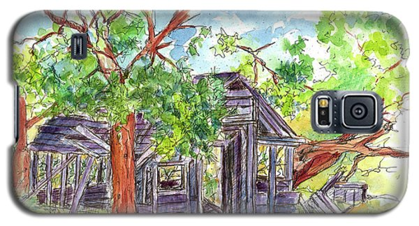 Galaxy S5 Case featuring the painting Rockland Cabin by Cathie Richardson