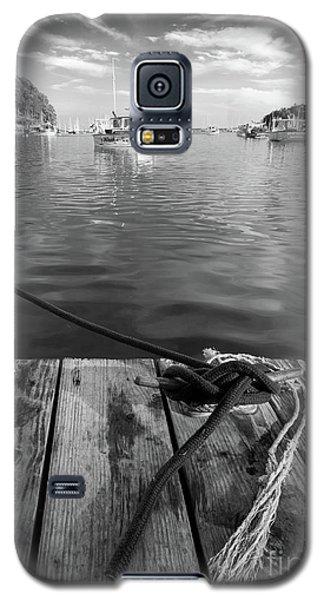 Rockport Harbor, Maine #80458-bw Galaxy S5 Case