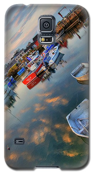 Galaxy S5 Case featuring the photograph Rockport Harbor Motif #1  by Joann Vitali