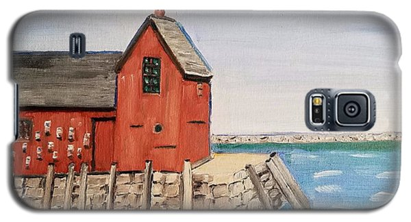 Rockport Motif In Winter Galaxy S5 Case