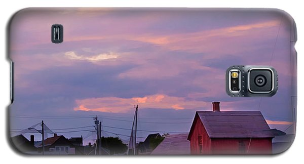 Galaxy S5 Case featuring the photograph Rockport Sunset Over Motif #1 by Jeff Folger