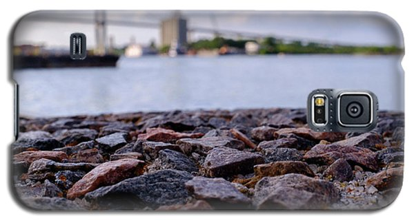 Rocks River And A Bridge In Savannah Georgia Galaxy S5 Case