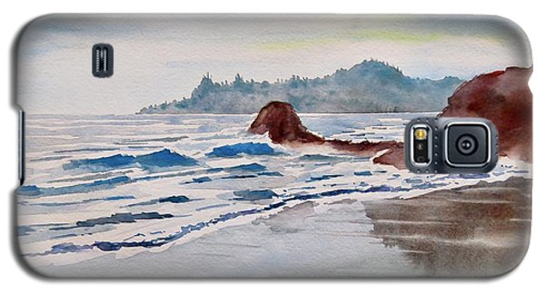 Galaxy S5 Case featuring the painting Rocky Beach by Geni Gorani