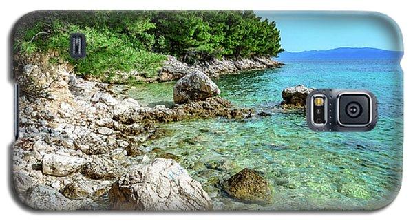 Rocky Beach On The Dalmatian Coast, Dalmatia, Croatia Galaxy S5 Case