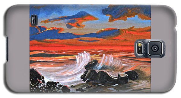 Galaxy S5 Case featuring the painting Rocky Cove by Donna Blossom