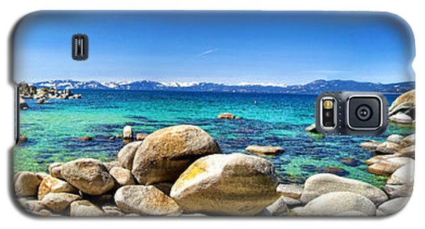 Galaxy S5 Case featuring the photograph Rocky Cove Sand Harbor by Jason Abando